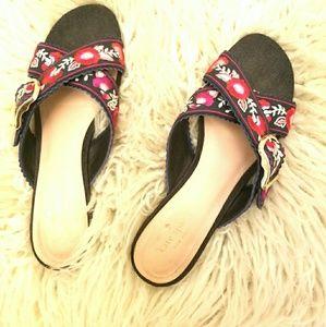 Kate Spade Denim Floral Sandal